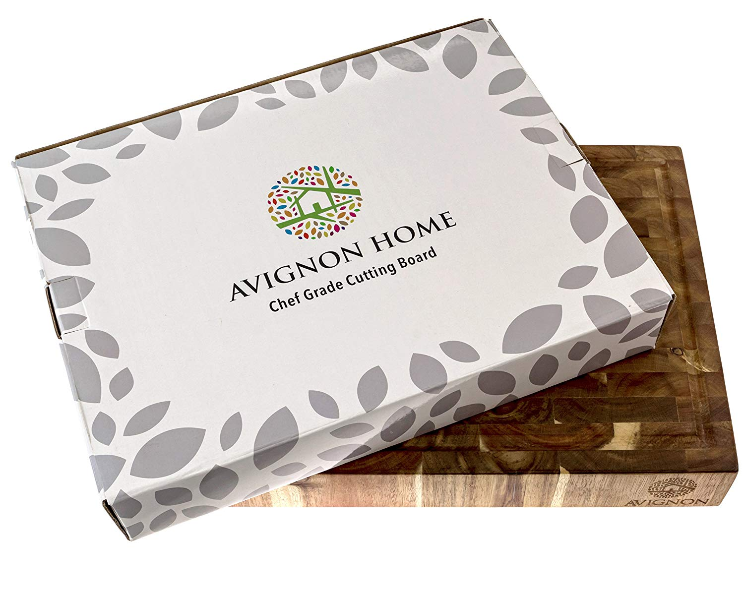 AVIGNON HOME Large End Grain Wooden Cutting Board