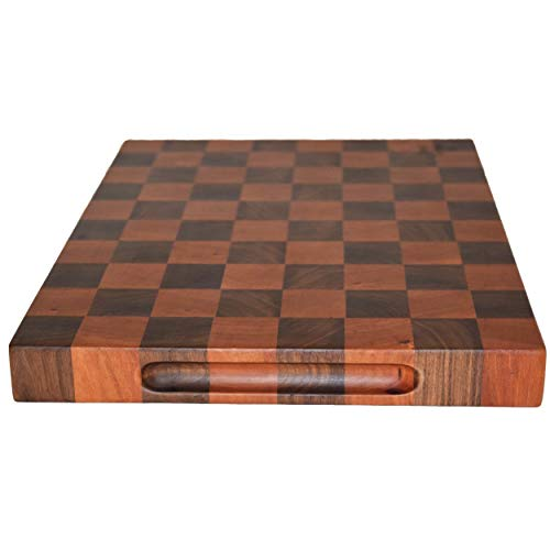 Handmade Fine Cherry Walnut End Grain Wood Cutting Board