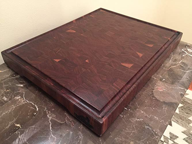 PHIL BENE Woodworking Handmade Walnut End Grain Butcher Block